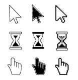 Vector illustration hand cursor hourglass Stock Image