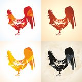 Vector illustration, hand drawing of a rooster Royalty Free Stock Image