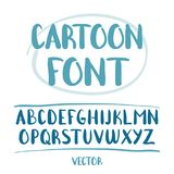 Vector illustration: Hand Drawn cartoon alphabet letters isolated on white background.  Royalty Free Stock Photos