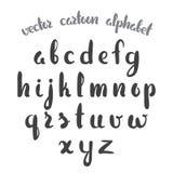 Vector illustration: Hand Drawn English alphabet letters isolated on white background. Modern brush lettering.  Royalty Free Illustration