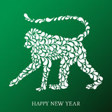 Vector illustration of hand drawn monkey. Vector illustration of monkey - chinese symbol of 2016 Stock Photos