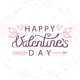 Vector illustration of hand drawn valentines day greeting card Stock Images