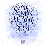 Vector illustration of hand lettering inspiring Royalty Free Stock Images