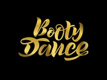 Vector illustration of Handwritten brush lettering for dance studio royalty free illustration