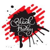Vector illustration - Handwritten modern brush lettering of Black Friday isolated on white background Stock Photos