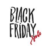Vector illustration: Handwritten modern brush lettering of Black Friday Royalty Free Stock Images