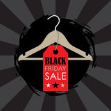 Vector illustration of a hanger with sale label Royalty Free Stock Photography