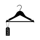 Vector illustration of a hanger with sale label Royalty Free Stock Images