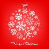Vector illustration hanging Christmas ball made Royalty Free Stock Photography