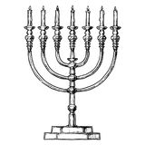 Vector illustration of Hanukkah menorah Stock Photography