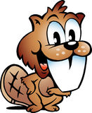 Vector illustration of an Happy Beaver Royalty Free Stock Image