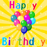 Vector illustration of a Happy Birthday card. Vector illustration of a Happy Birthday bright card Royalty Free Stock Images