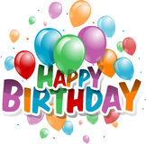 Vector Illustration of a Happy Birthday Card Royalty Free Stock Images