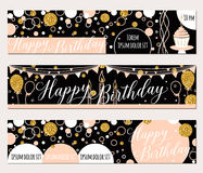 Vector illustration of happy birthday cards.  Royalty Free Stock Photo