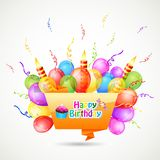 Happy Birthday Chat Bubble Stock Photography