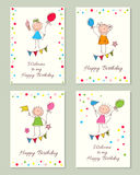 Vector Illustration of a Happy Birthday. Frame for text. Happy Birthday. Graphics drawn by hand Stock Photo