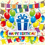 Vector illustration. Happy birthday. Royalty Free Stock Images