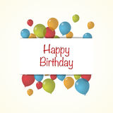Vector Illustration of a Happy Birthday. Greeting Card Stock Images