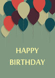 Vector Illustration of a Happy Birthday Greeting Card Royalty Free Stock Image