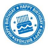 Happy birthday stamp vector illustration