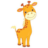 Vector Illustration of happy Cartoon Giraffe Stock Photos