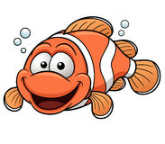 Happy Clownfish Cartoon Stock Image