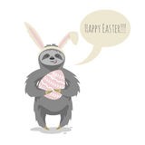 Vector illustration of happy cute cloth with bunny or rabbit ears Stock Image