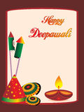 Vector illustration for happy diwali Stock Photo