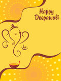Vector illustration for happy diwali Stock Photography