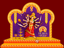 Happy Durga Puja festival background for India holiday Dussehra Royalty Free Stock Images