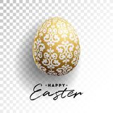 Vector Illustration of Happy Easter Holiday with Painted Egg on Transparent Background. International Celebration Design Royalty Free Stock Photo