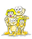 Family posing for photo Royalty Free Stock Photography