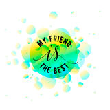 Vector illustration of Happy Friendship day typography design  on white background with rough color dots Stock Photo