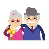 Vector illustration. Happy grandparents day. Stock Image