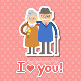 Vector illustration. Happy grandparents day. Royalty Free Stock Images