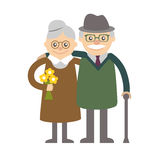 Vector illustration. Happy grandparents day. Stock Photos