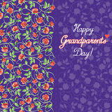 Vector illustration. Happy grandparents day. Royalty Free Stock Image