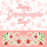 Vector illustration. Happy grandparents day. Royalty Free Stock Photos