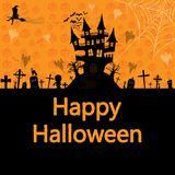 Happy Halloween background , vector illustration. Vector illustration Happy Halloween background Royalty Free Stock Photos