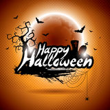 Vector illustration on a Happy Halloween theme Stock Photo