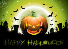 Vector illustration on a Happy Halloween theme wit Royalty Free Stock Photography