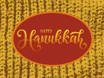 Vector illustration of Happy Hanukkah for typography poster, calendar, greeting card or postcard. vector illustration