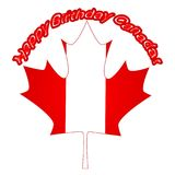 Canada Day Vector Illustration. Happy Canada Day Holiday Invitation Design. Red Leaf Isolated on a white background. Greeting card. Vector illustration. Happy royalty free illustration