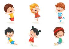 Vector Illustration Of Happy Kid Characters. Eps 10 Stock Image