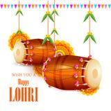 Happy Lohri holiday festival of Punjab India. Vector illustration of Happy Lohri holiday festival of Punjab India Royalty Free Stock Photo
