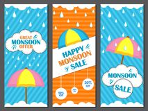 Happy Monsoon Sale Offer promotional and advertisment banner. Vector illustration of Happy Monsoon Sale Offer promotional and advertisment banner Royalty Free Stock Photography