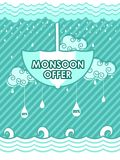 Happy Monsoon Sale Offer promotional and advertisment banner. Vector illustration of Happy Monsoon Sale Offer promotional and advertisment banner Royalty Free Stock Image
