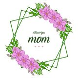 Vector illustration happy mothers day for various style purple bouqet frames royalty free illustration