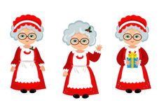 Vector illustration Happy Mrs. Claus Royalty Free Stock Photos