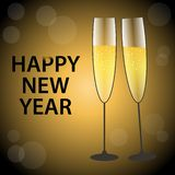 Vector illustration of happy new year gold and black collors vector illustration
